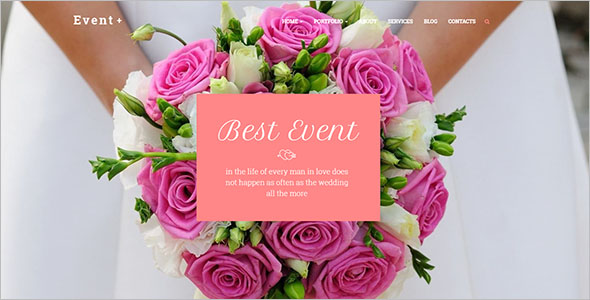 Event Planner Website Template For Birthday