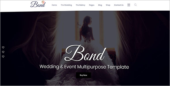 Event Wedding Bootstrap Template