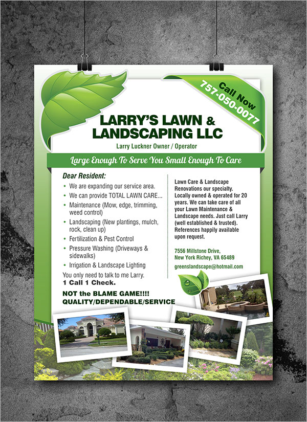 Example Of Lawn Care Flyer