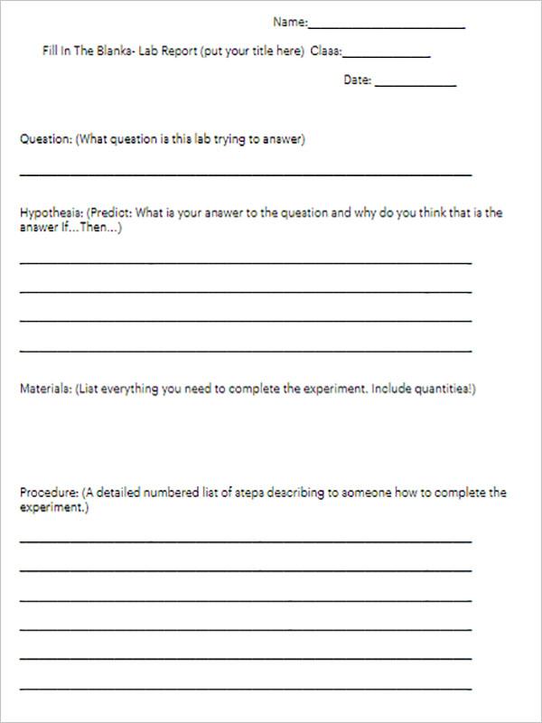 Example Of School Report Template