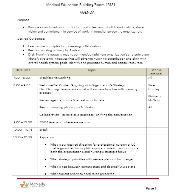 Example Of Strategic Plan Template