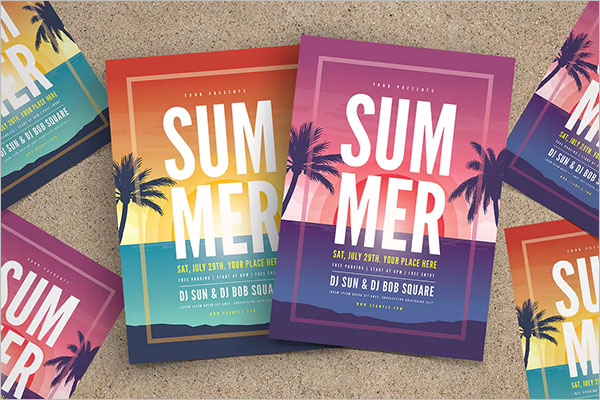 Example Of Summer Party Flyer