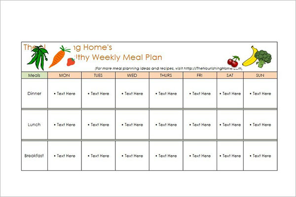 Excel Meal Planer Template