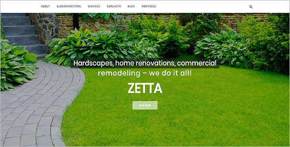 Exterior Landscaping Blog Template