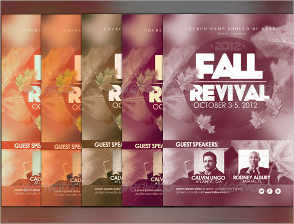 Fall Revival Flyer Template