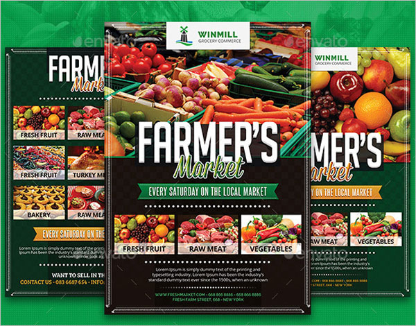 Farmer's Market Commerce Flyer Template