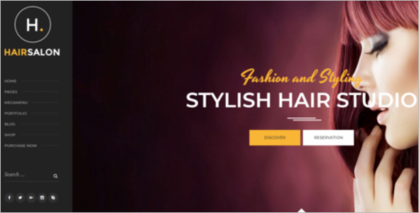 Fashion Hair Salon HTML5 Template