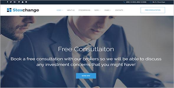 Financial Broker Services WordPress Theme