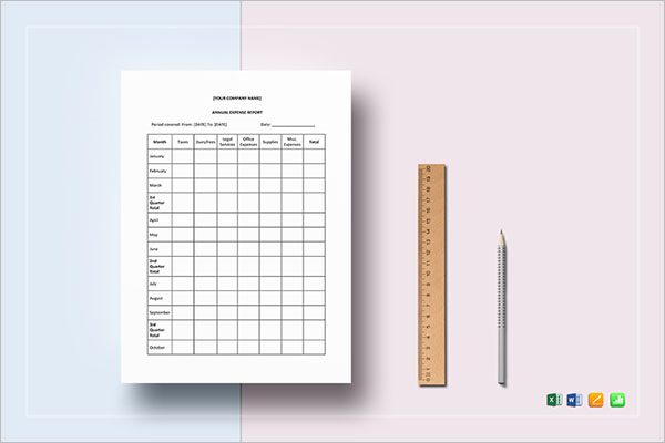 Financial Report Sheet Template