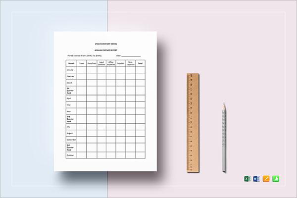 Financial Report Sheet Template