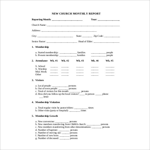 Financial Report Template Download