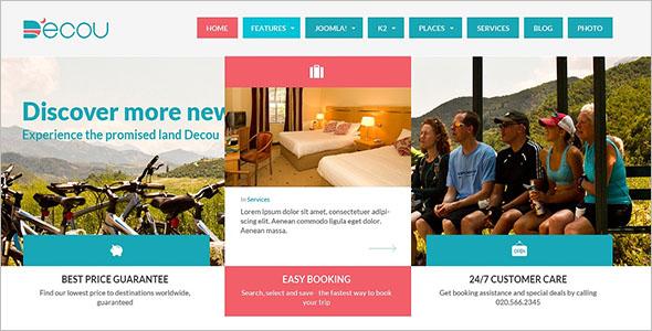 Flat Tour & Travel Website Template