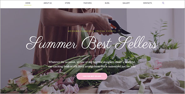 Flowers Seller Website Template For Birthday Party