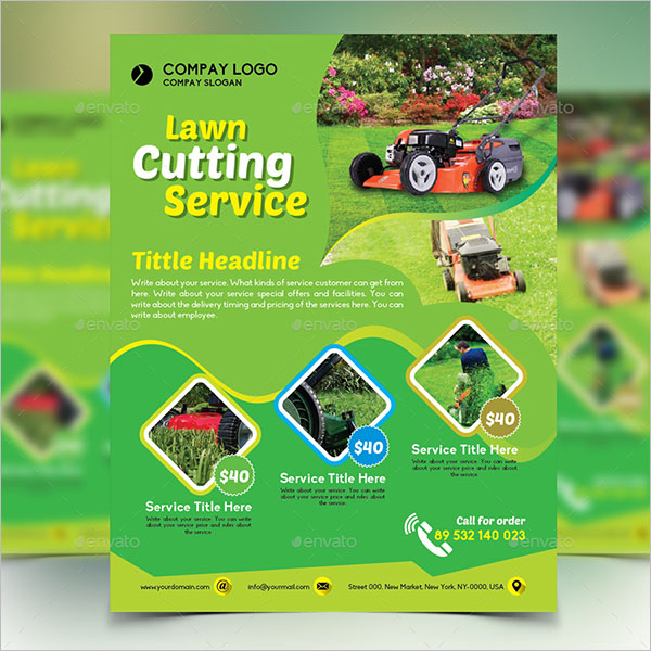 Flyer Design For Lawn Cutting Services
