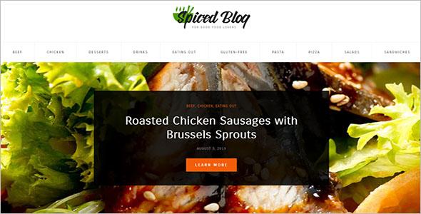 Food Personal Blog WordPress Theme