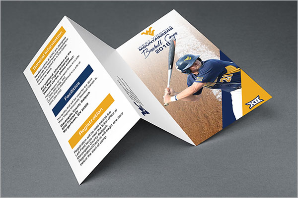 Free Baseball Camp Brochure Template