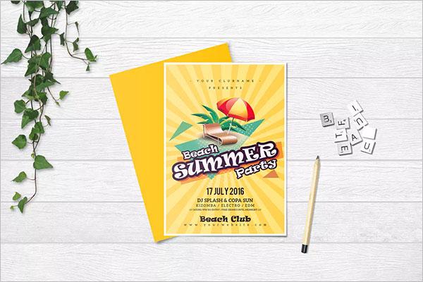 Free Beach Summer Party Flyer Design