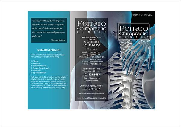 Free Chiropractic Brochure Template