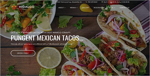 Free Food Blog WordPress Theme