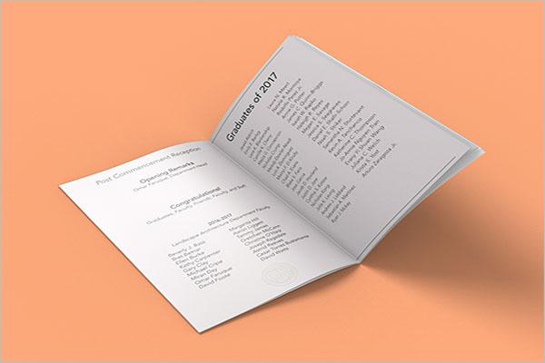 17 Graduation Brochure Templates Free Pdf Psd Design Ideas