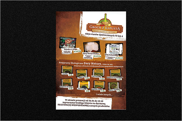 Free Grocery Flyer Template