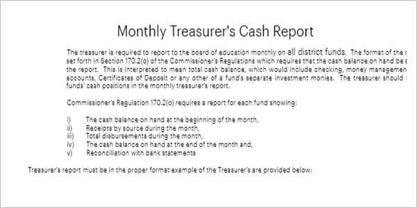 Free Treasurer Report Template