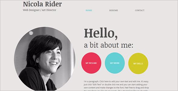 Free Writer HTML5 Template