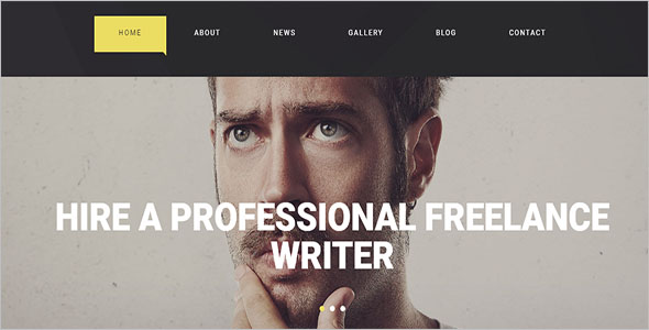 Freelance Writer HTML5 Template