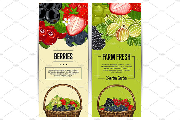 Fruits Flyer Template
