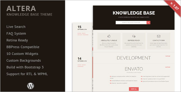Fully Customizable Knowledge Base WordPress Theme
