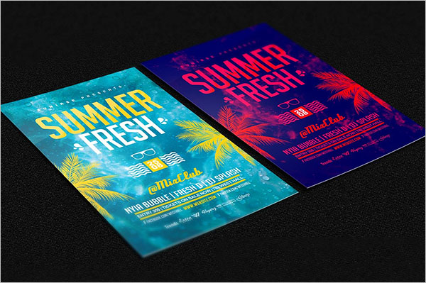 Fully Customizable Summer Party Flyer Template