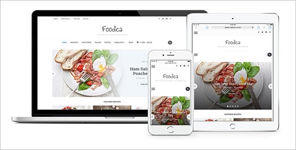 Fully Responsive Food Blog WordPress Theme