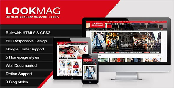 Fully Responsive Magazine Bootstrap Template