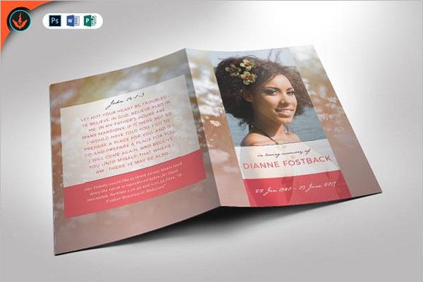 Funeral Program Brochure Template