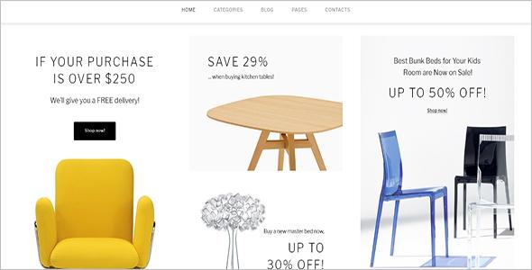 Furniture Store Woocommerce Template