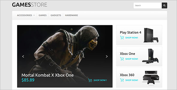 Game Store PHP Template