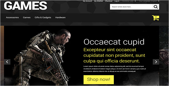 Gamers Theme Including PHP