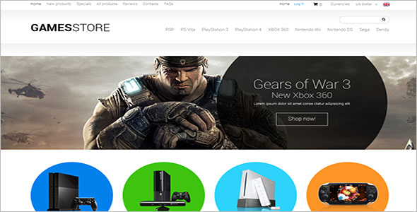 Games PHP eCommerce Template