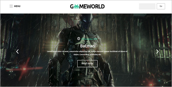 Gameworld PHP Template