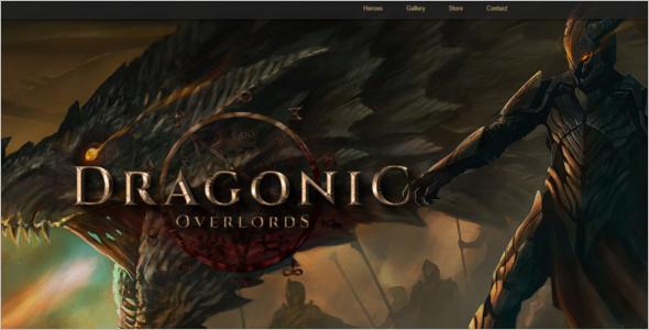 Gaming Landing Page Template