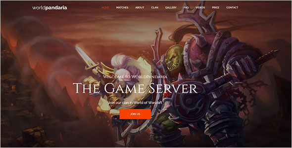 Gaming PHP Website Template