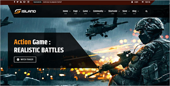 Gaming PHP Website Theme