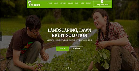Garden Landscaping Blog Template