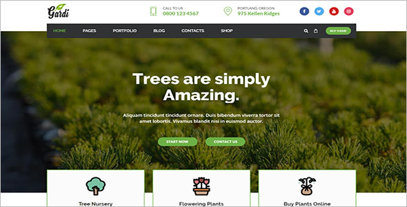 Gardening & Landscaping WordPress Theme