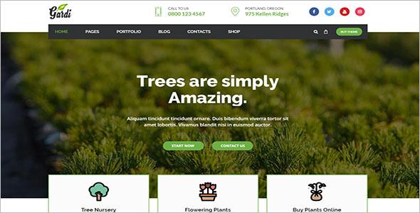 Gardening & Landscaping WordPress Theme