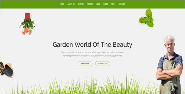 Gardening Website Blog Template