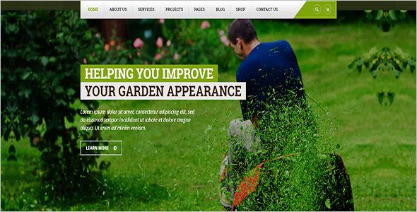 Gardening Landscaping Blog Template
