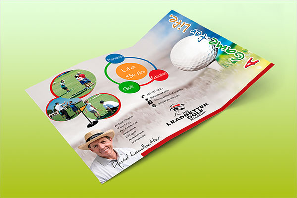 Golf Camp Brochure Template
