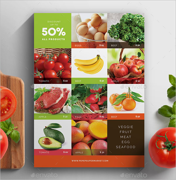 Grocery Flyer Template Photoshop