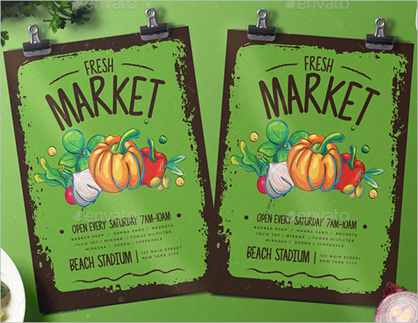 Grocery Products Flyer Template